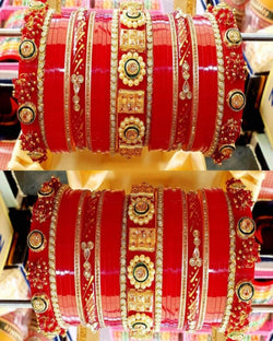 Red Dulhan Chooda Bangles