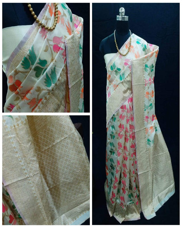 Flower Multi Saree