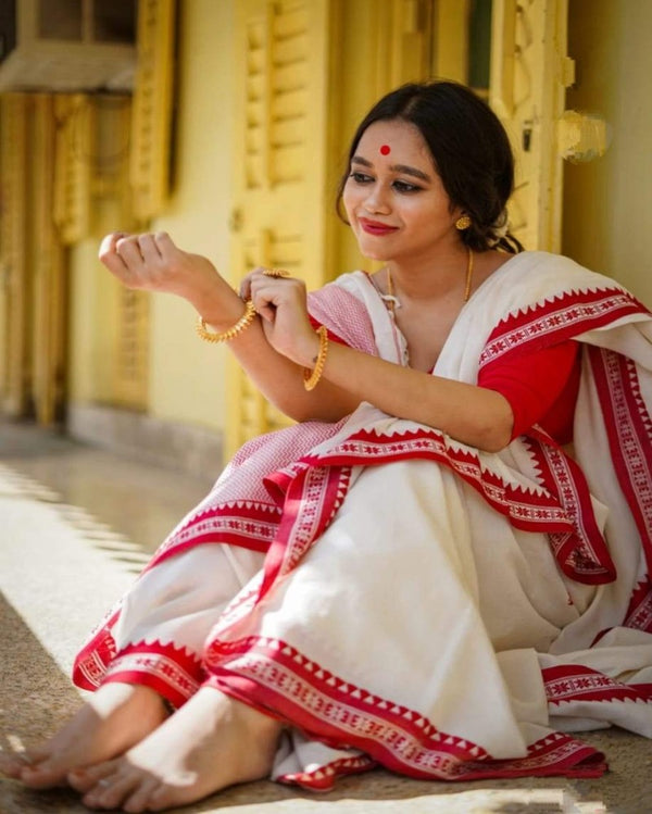 Traditional Banglori Tant Saree