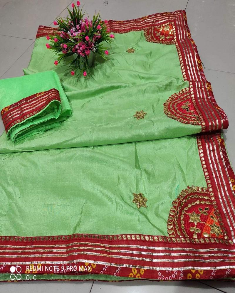 Zari Border Silk Light Green Saree