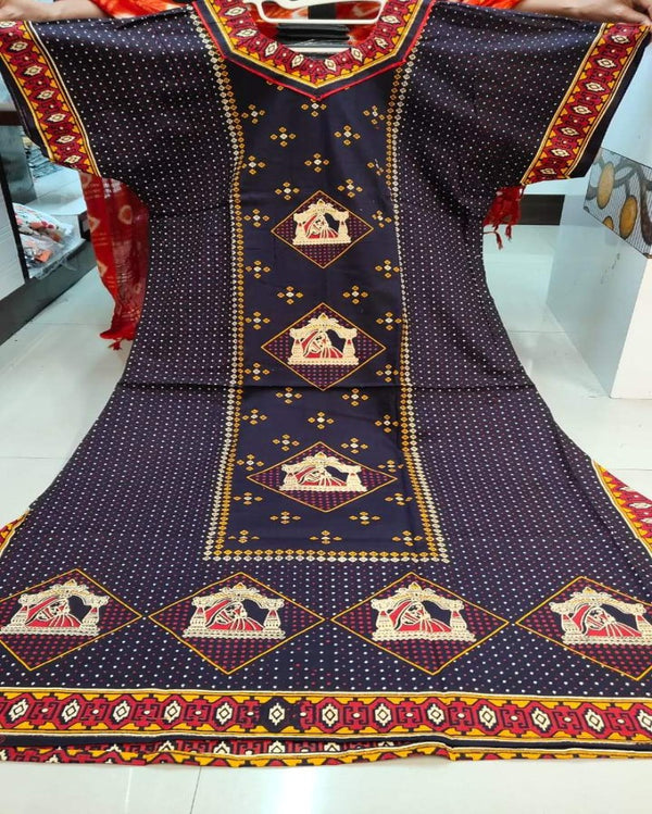 Foil Printed Nighty Gown