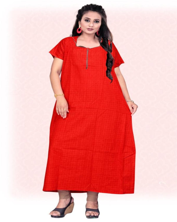 Neck Zip Printed Maxi Gown