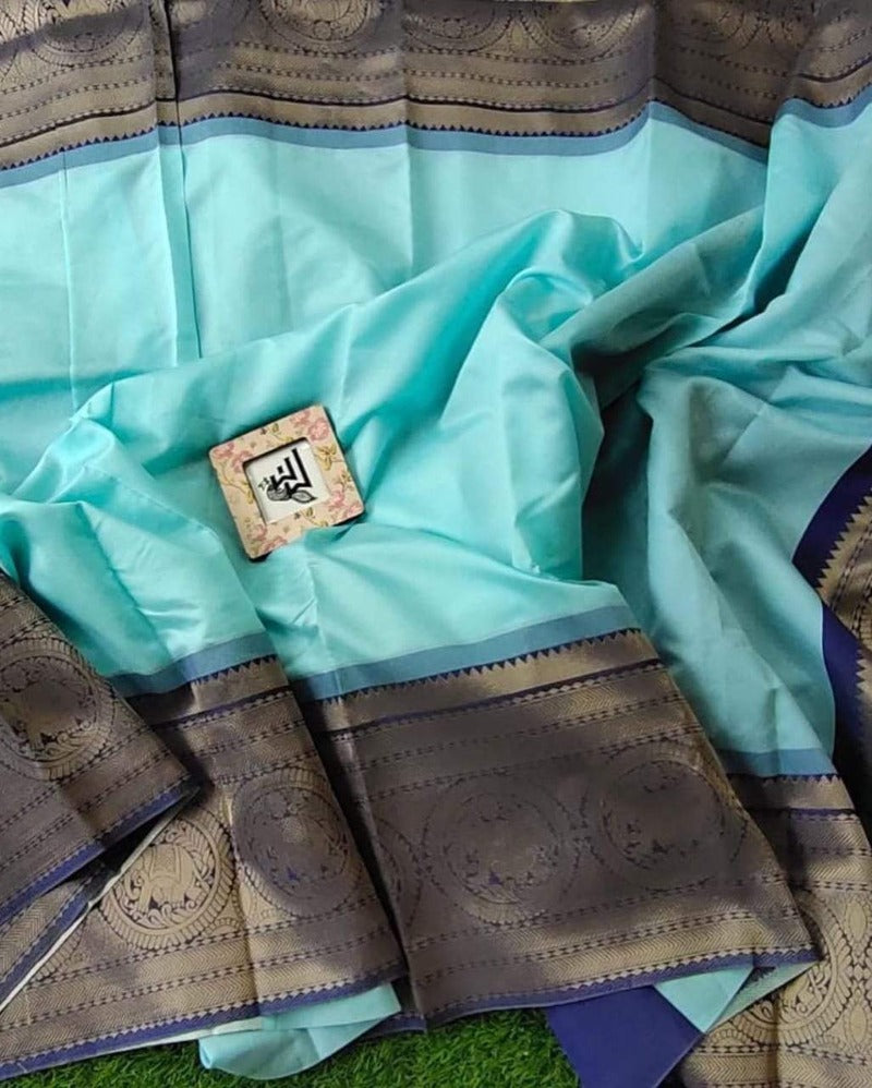 Banarasi Blue Border Saree