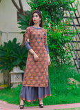 kurta flaired plazo set