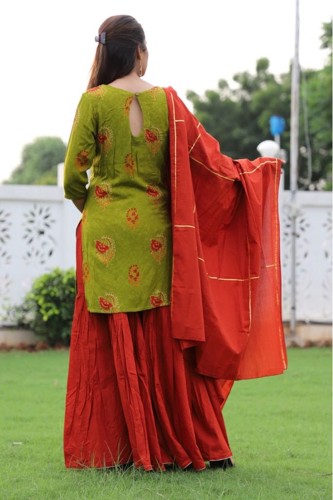 sharara set with dupatta