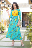 Printed casual gown