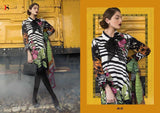 Printed embroidery winter dress material