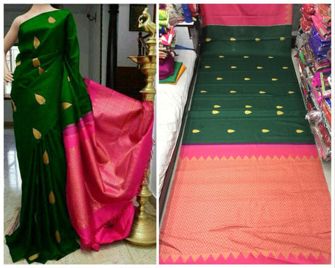 Green boota saree