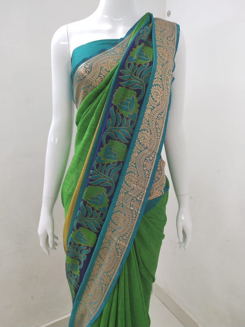 Silk Printed Saree Zari Border