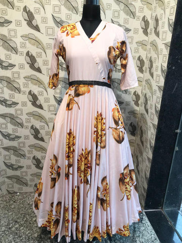 Printed designer gown