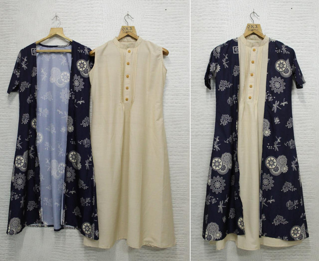 shrug with ankle length kurti