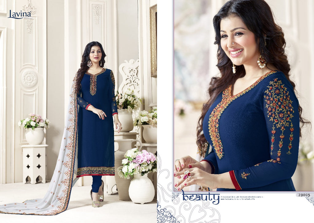 Blue georgette Dress material