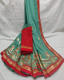 Party wear gotta patti saree