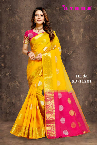 Cotton weaving saree