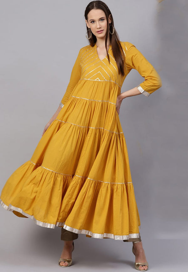 Yellow gotta gown