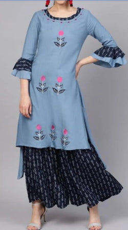 High low kurti sharara