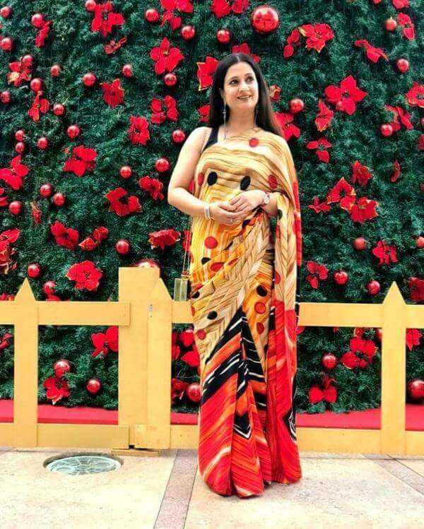 Yellow base with multicolor Silk art saree