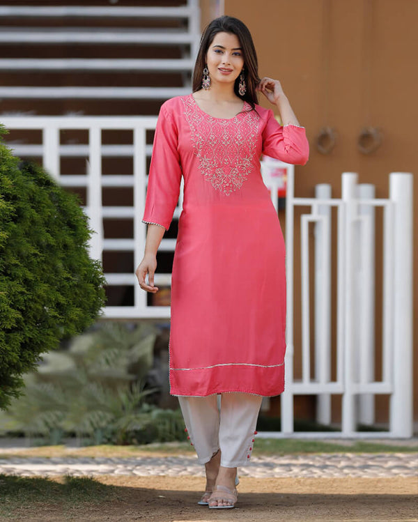 Beautiful Heavy Rayon kurti with pant