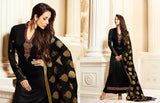 Black dress material with banarasi jackard dupatta
