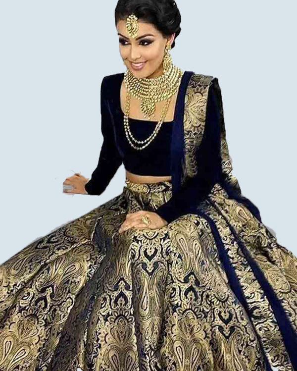 Blue Lehenga Choli with Dupatta