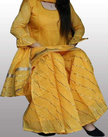 Chanderi kurti plazo with dupatta