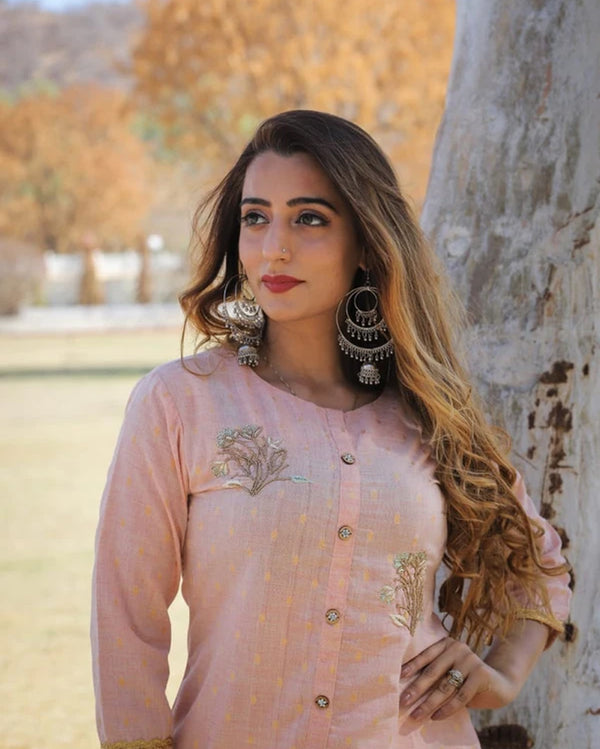 Cotton kurti sharara