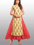 double layer kurti dress