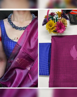 Elegant silk printed saree