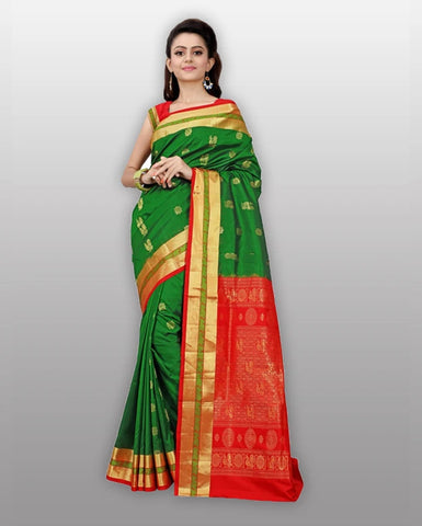 floral saree with lining blouse