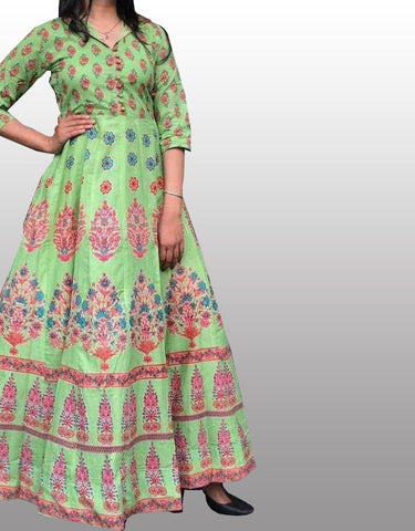 Cotton full length kurti