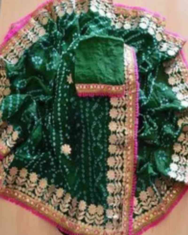 Green Silk Bandhej Saree