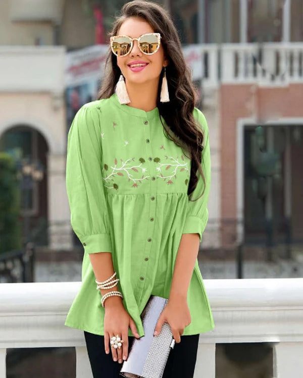 Green Western Wear Tops