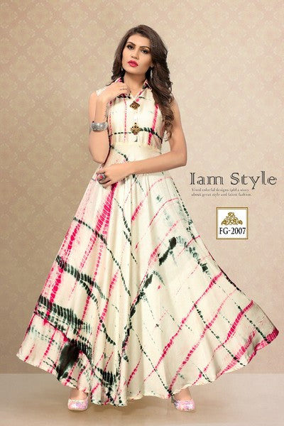 casual anarkali gown