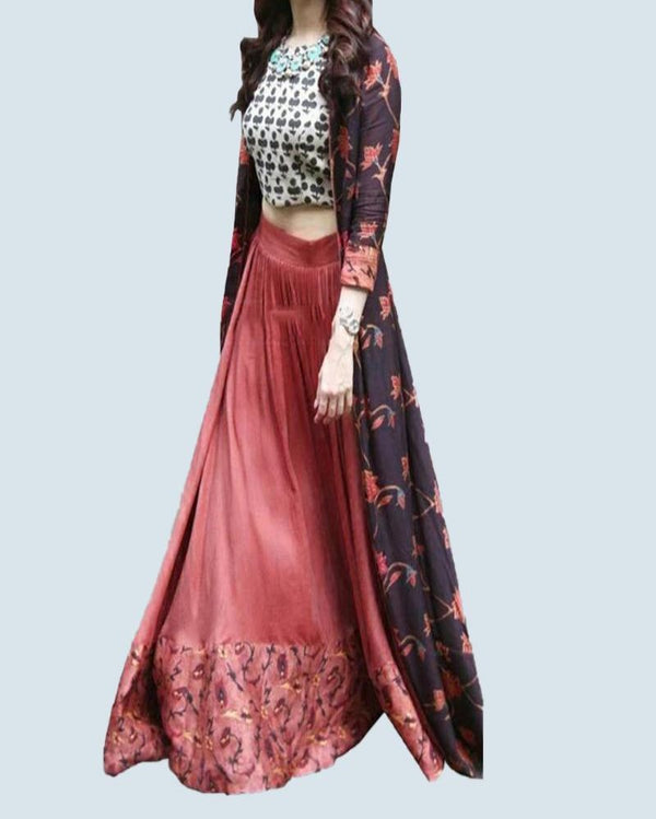 Indo Western Lehenga With Shrug