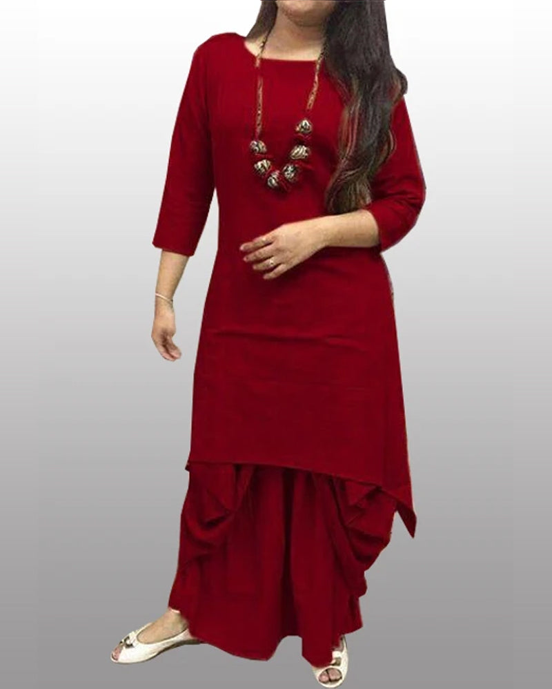 Jasmine dhoti kurti cotton - Brown