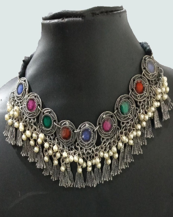 The Colored Crystal Pearls Necklace