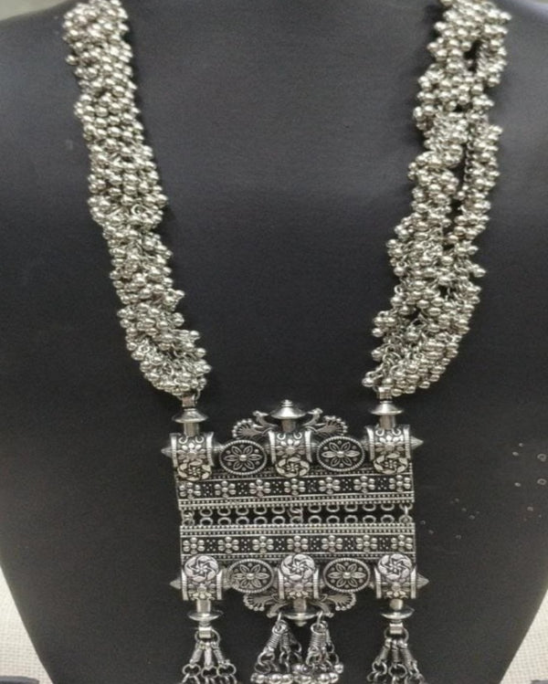 The Temple Beaded Harden Oxidised Necklace