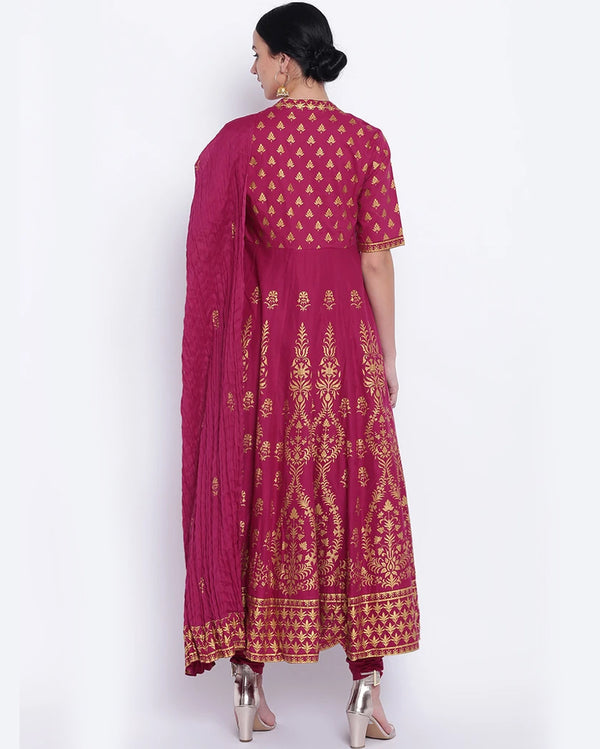 Karwa Chauth Gown With Dupatta