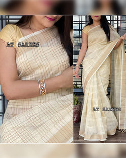 Kerala cotton net saree