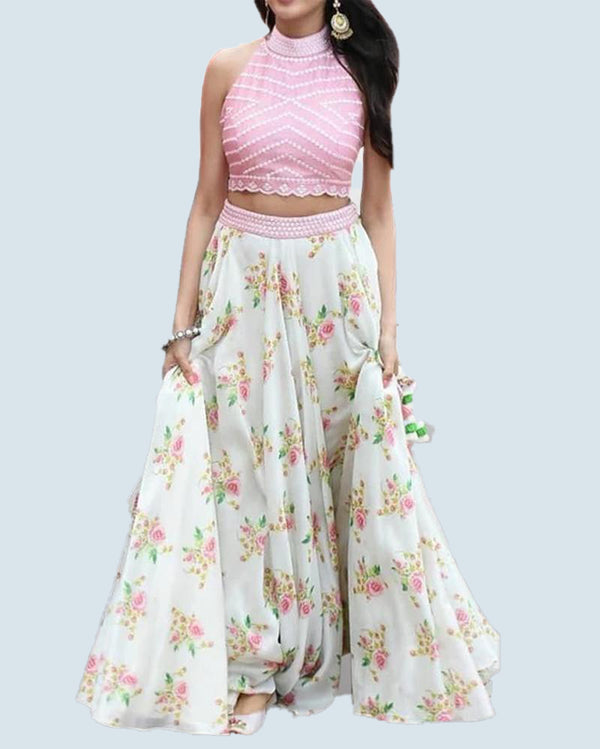 light pink simple stylish lehenga with dupatta