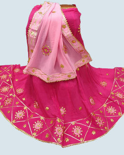 Magenta Traditional Gotta Patti Lehenga