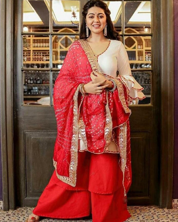 Navratri Red Suitset