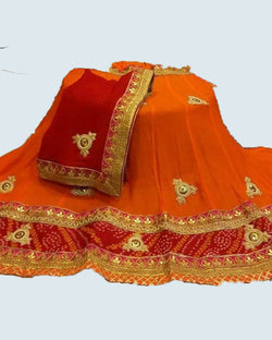 Orange gotta work lehenga