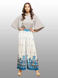 Multi Print Reyon Palazzo For Women