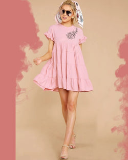 Pink Stylish Party Wear Western Dresses