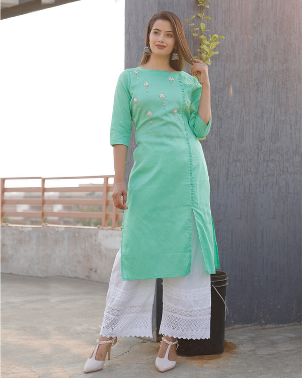 Rayon Kurti With Plazo Set