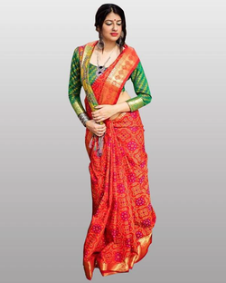 Red Banarasi Silk Patola Saree