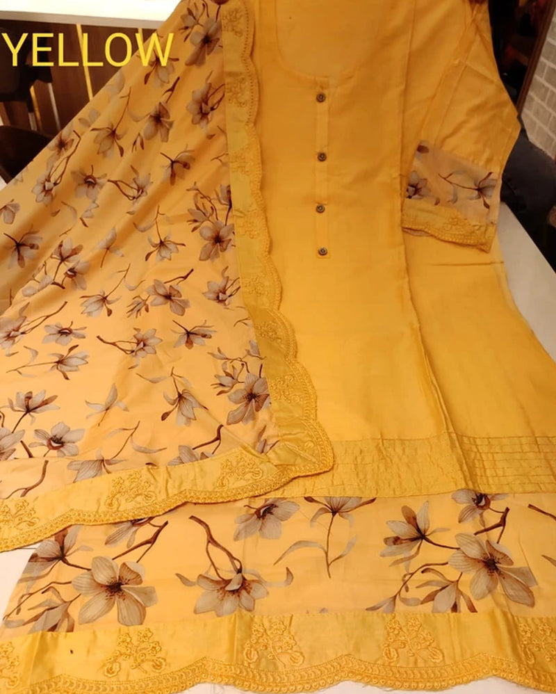 Cotton designer dress material