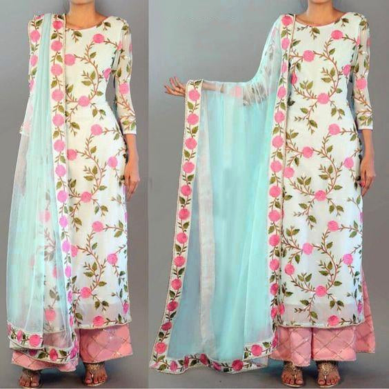 Silk Embroidery dress material