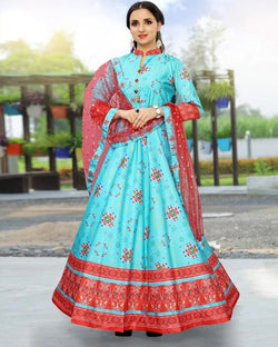 Sky Blue Partywear Gown For Women